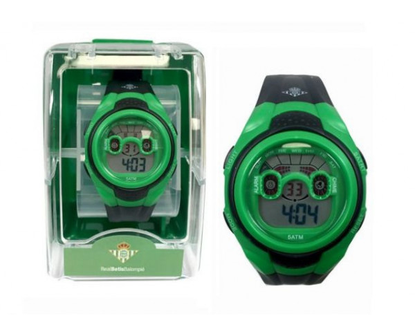 Reloj de pulsera digital multifunción infantil Real Betis
