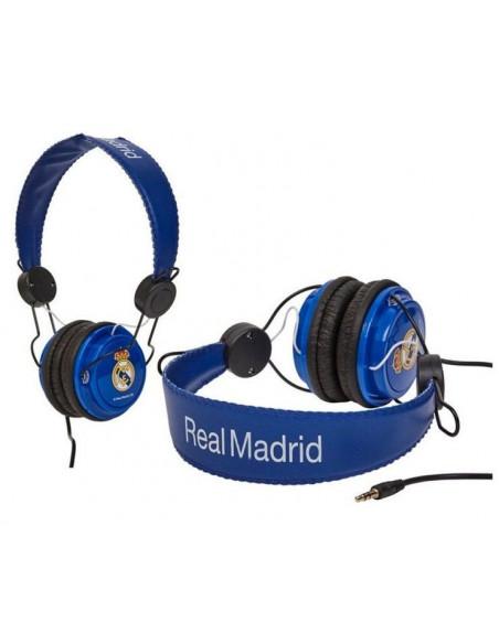 Cascos auriculares stéreo Real Madrid azul