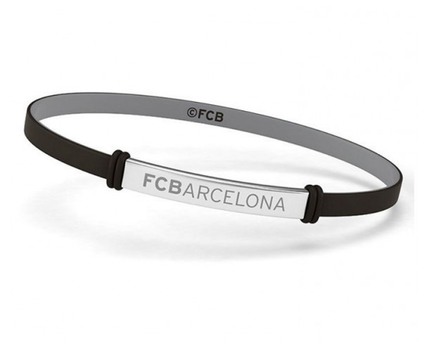 Pulsera FC Barcelona infantil placa metálica