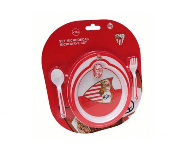 Conjunto de regalo infantil Sevilla FC plato y cubiertos