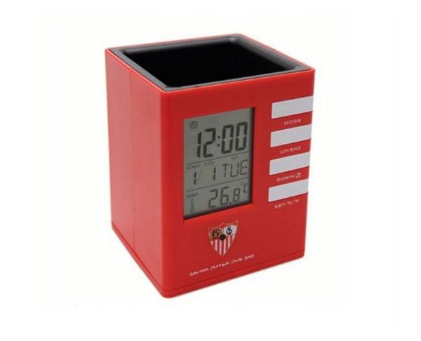 Reloj despertador digital del Sevilla FC cubilete