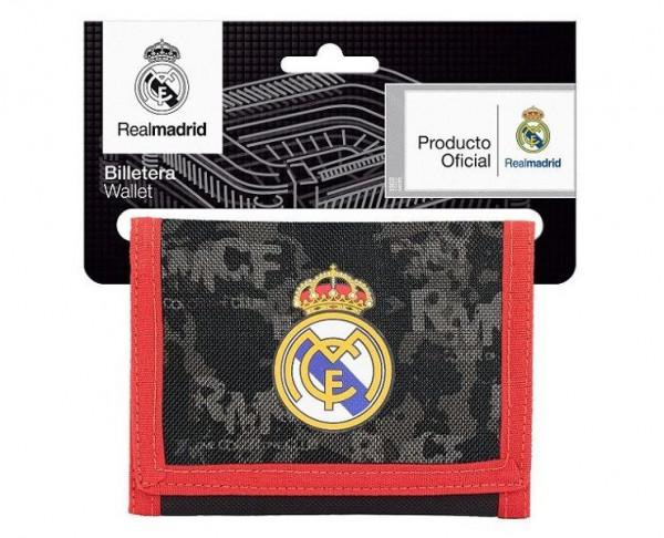 Billetero de tela Real Madrid con monedero interior