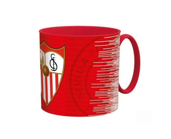 Taza de plástico del Sevilla FC adecuada microondas