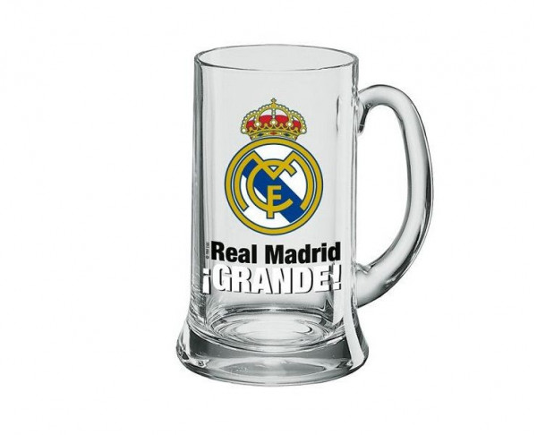 Jarra de cristal Real Madrid tamaño gigante XXL