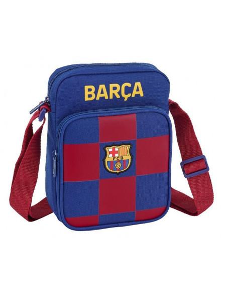 Bandolera FC Barcelona con doble departamento Blaugrana
