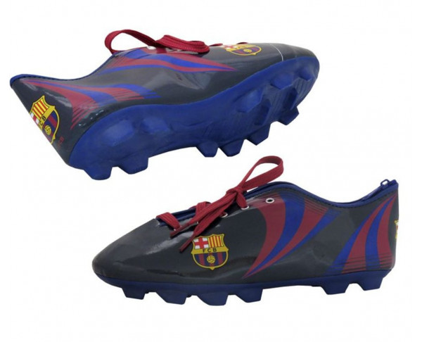 Portatodo con forma de bota del FC Barcelona