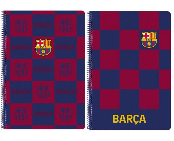 Cuaderno grande tamaño folio con 80 hojas FC Barcelona