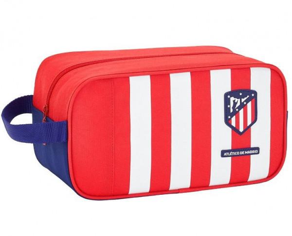 Bolsa zapatillero rojiblanco del Atlético de Madrid