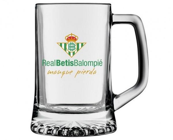 Jarra de cristal cerveza Real Betis Balompié