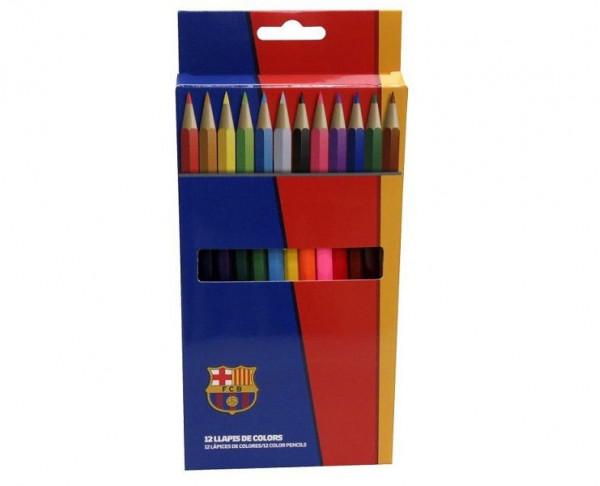 Caja con 12 pinturas de colores del FC Barcelona