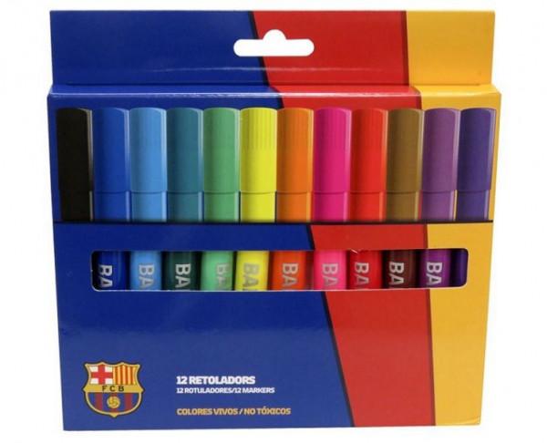 Caja 12 rotuladores gruesos del FC Barcelona