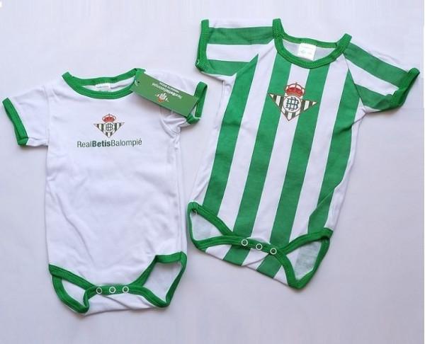 Pack 2 bodys para bebé manga corta Real Betis Balompié