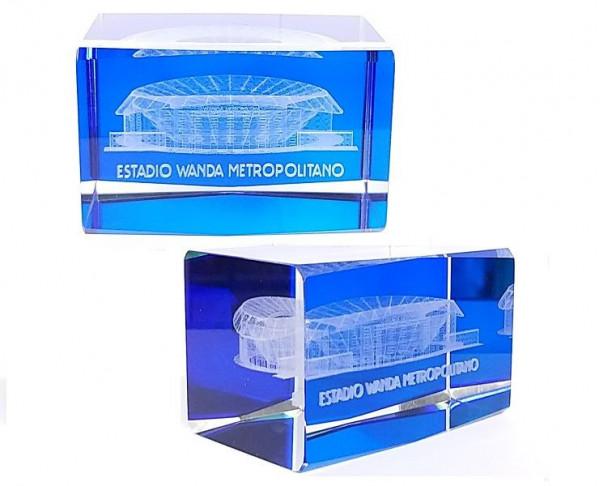 Bloque de cristal compacto 3D Metropolitano ATM