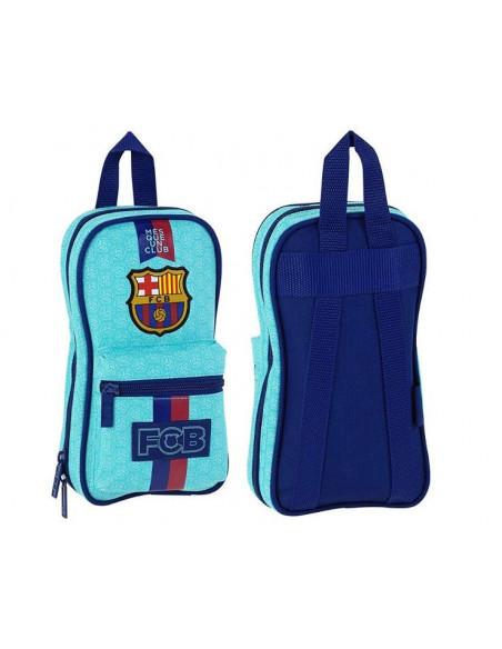 Plumier con portatodos y material escolar FC Barcelon