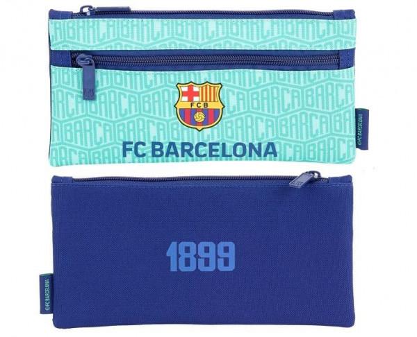 Estuche plano dos cremalleras FC Barcelona tercera equipación