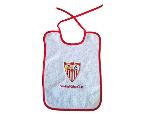 Babero con escudo Sevilla FC bordado para bebé