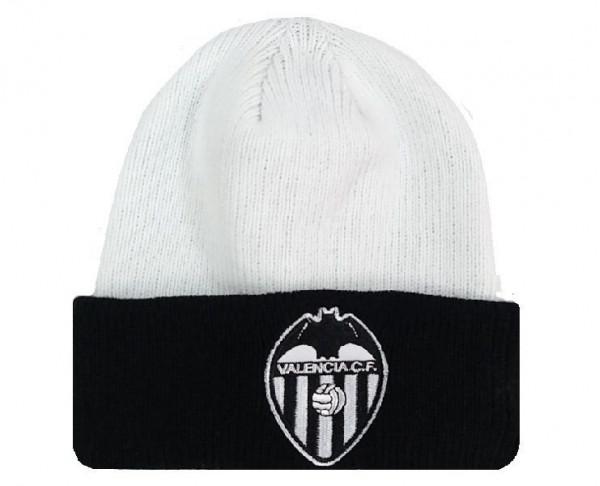 Gorro de lana blanco y negro Valencia CF juvenil y adulto