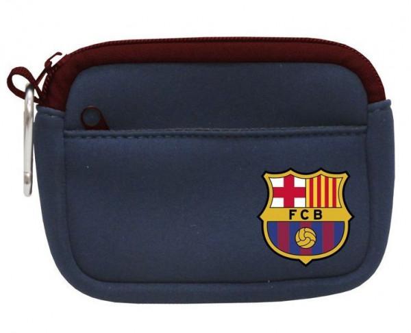 Monedero rectangular FC Barcelona con doble bolsillo