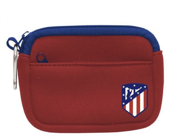 Monedero de neopreno doble bolsillo Atlético de Madrid