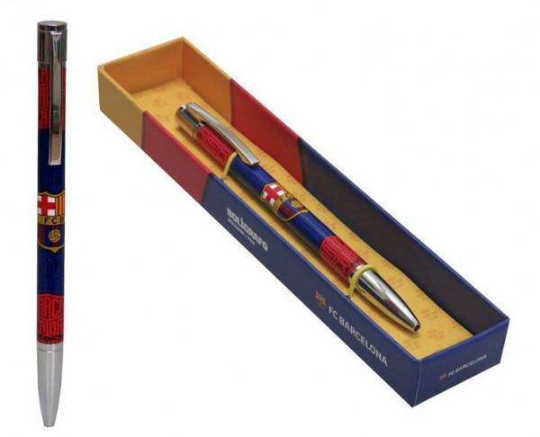 Bolígrafo metálico de lujo FC Barcelona en caja de regalo