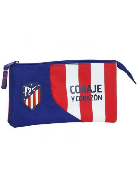 Estuche portatodo grande tres compartimentos Atlético de Madrid