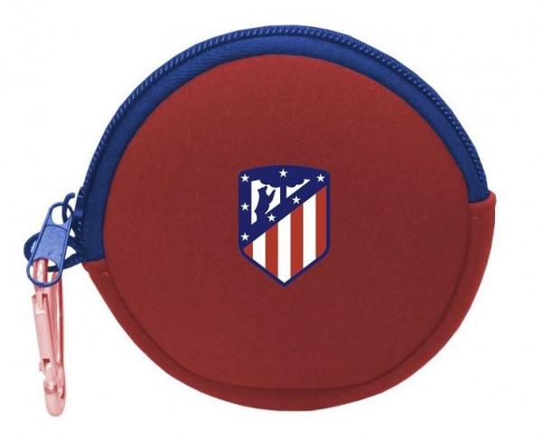 Monedero redondo de neopreno Atlético...