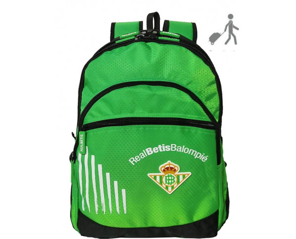 Mochila grande Real Betis adaptable a...