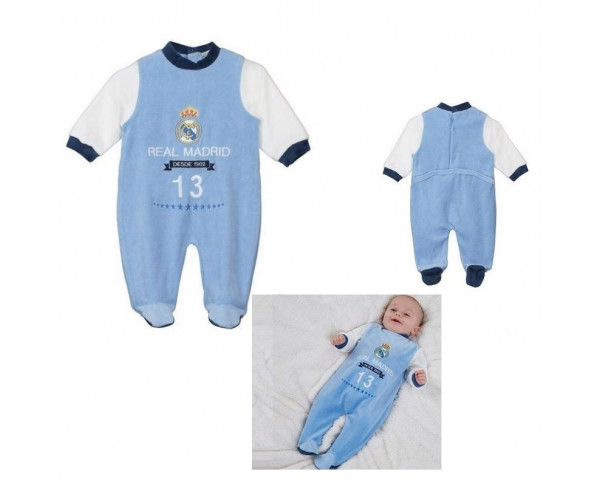 Pijama pelele Real Madrid manga larga