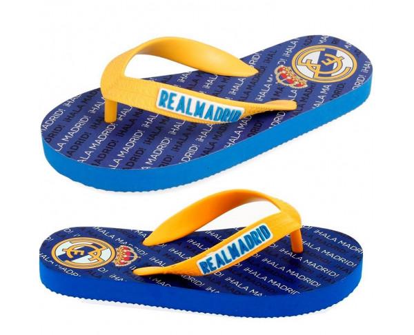 Chanclas Real Madrid de color azul...
