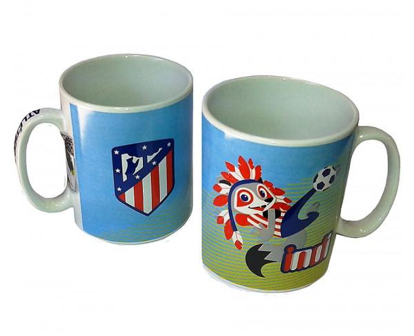 Taza de porcelana Atlético de Madrid Happy Indi
