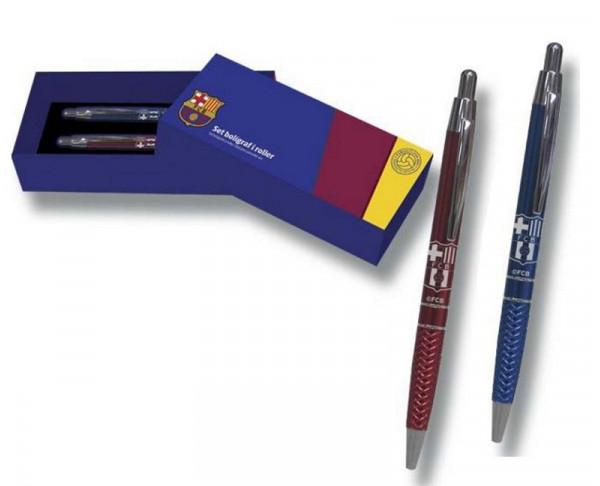 Conjunto de regalo bolígrafo y roller FC Barcelona