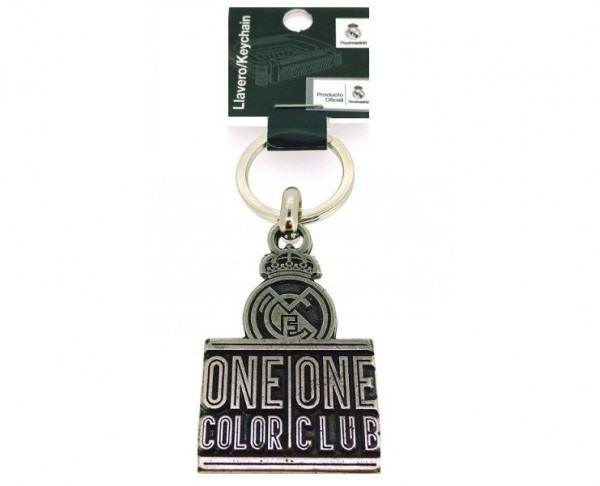 Llavero metálico Real Madrid Un color un Club