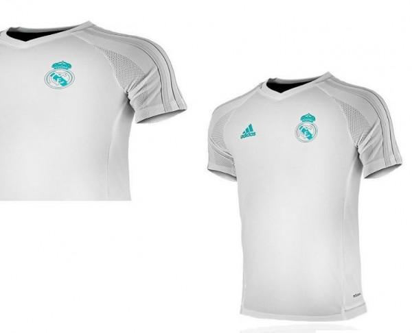 Camiseta blanca infantil de entrenamiento Real Madrid