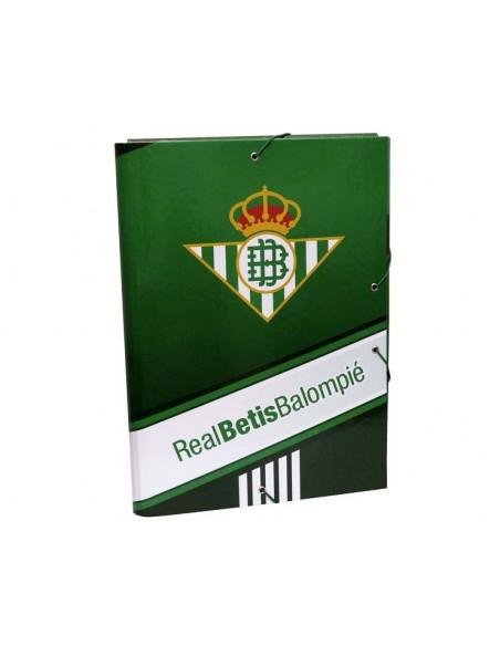 Carpeta Real Betis tres solapas con cierre gomas