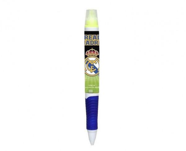 Bolígrafo Real Madrid con marcador fluorescente