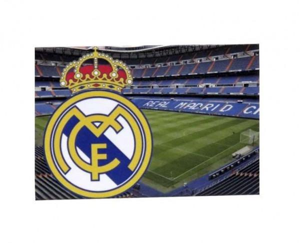 Imán Real Madrid con escudo y estadio Bernabéu