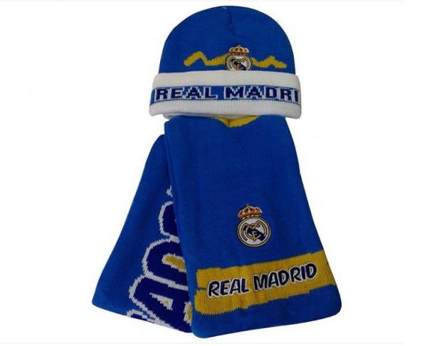 Gorro y bufanda polar del Real Madrid infantil