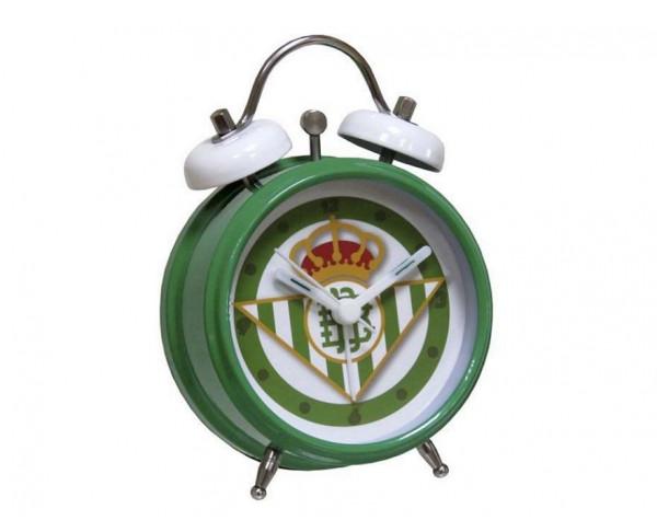 Reloj despertador metálico del Real Betis