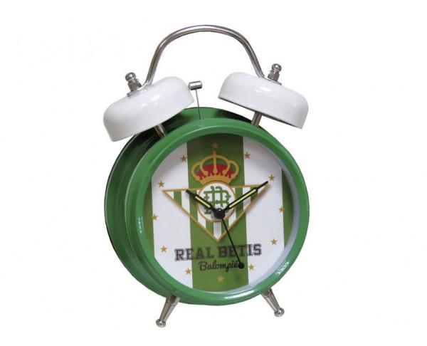Reloj despertador metálico con el himno del Real Betis
