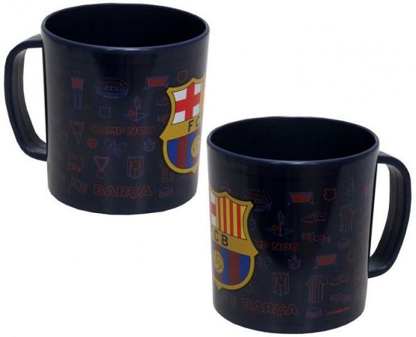 Taza de plástico del FC Barcelona apta microndas