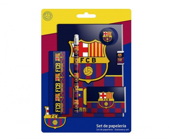 Conjunto infantil de regalo escolar del FC Barcelona