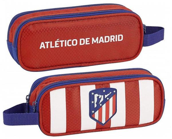 Estuche portatodo doble Atlético Madrid dos cremalleras