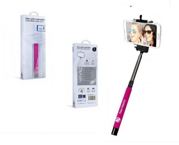 Brazo extensible para Selfie Real Madrid Pink