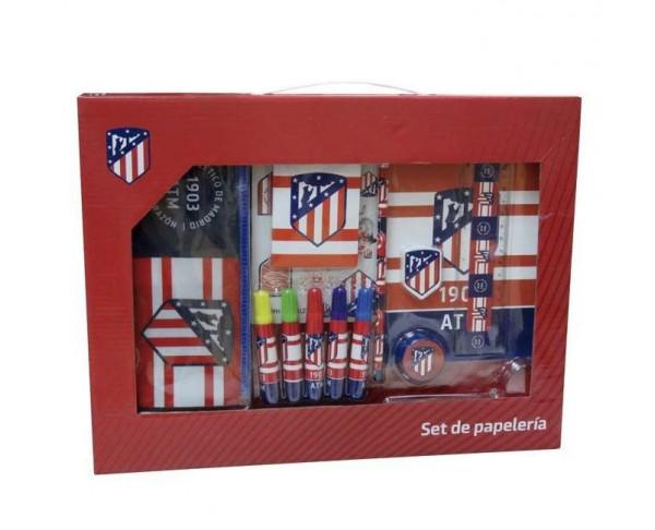 Estuche maletín accesorios escolares Atlético de Madrid