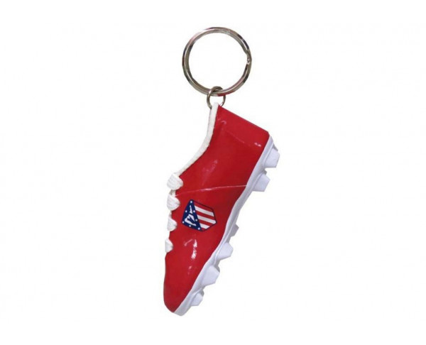 Llavero bota de fútbol en miniatura Atlético de Madrid