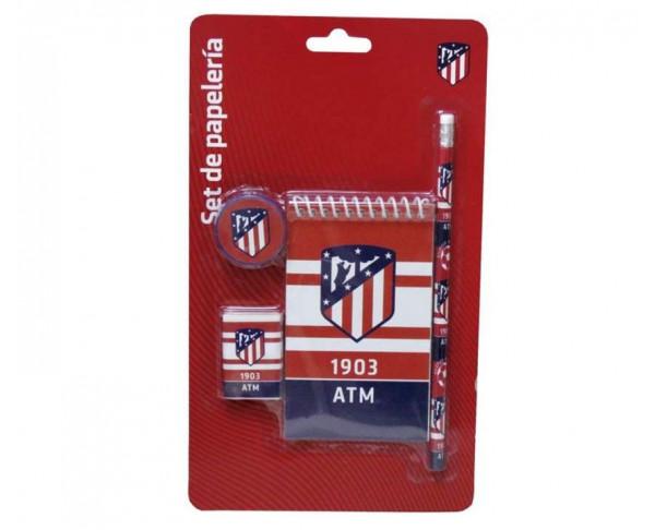 Conjunto de regalo escolar Atlético de Madrid 4 piezas