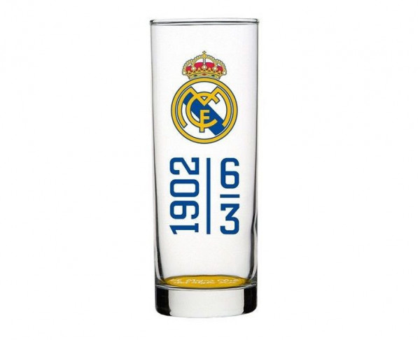 Vaso tubo alto Real Madrid Mejor Club del Siglo XX